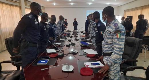 Les unités spécialisées du Groupe de Sécurité du Port de San Pedro en formation feature image